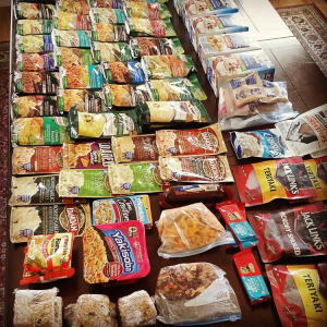 modern_day_mountain_manOperation Stockpile, Phase One has been a raging success. This is about forty days worth, by the time I finish eating all of it, I should be almost to Virginia. Cool to think about, right? #AppalachianTrail2016 #thruhiker #adventure #trailfood