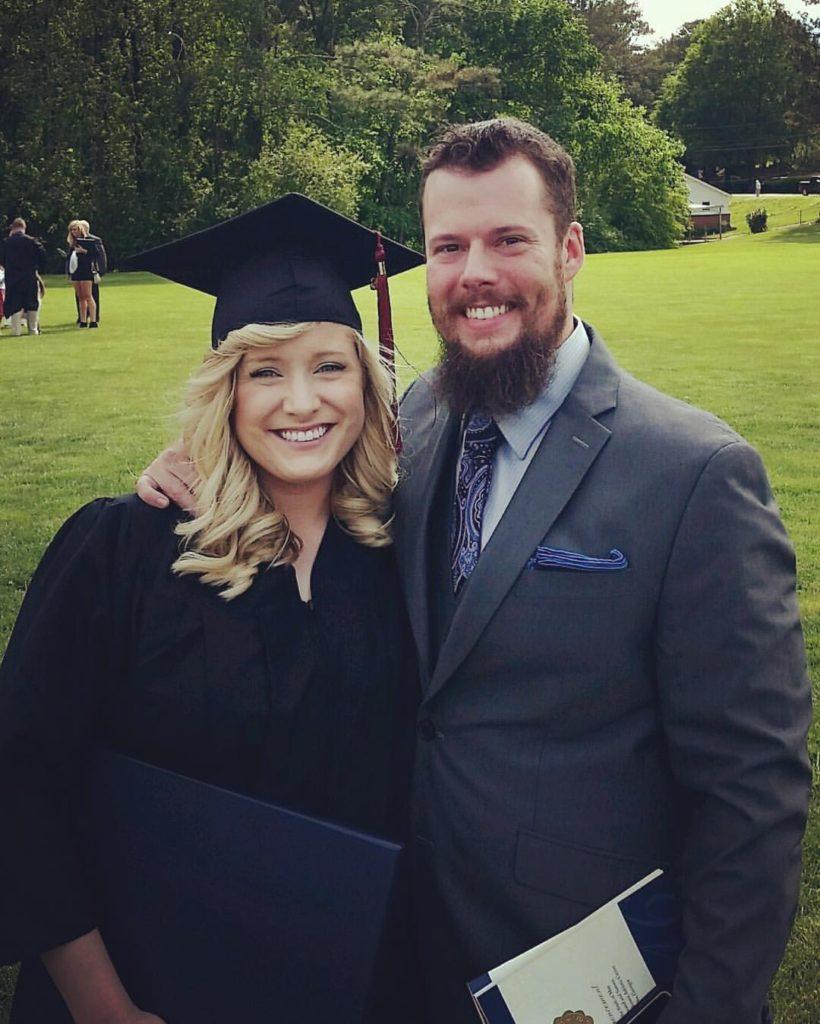 Kayla's graduation from Reinhardt University.