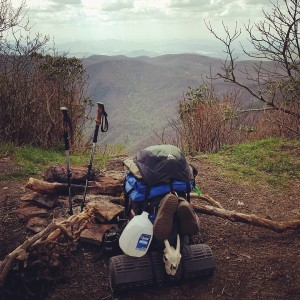Standing Indian Mountain, NC, elev. 5,500 feet. My first fiver! #milehigh #mountains #AppalachianTrail2016 #yearofadventure #exploring #backpacking #whiteblazers #optoutside — at Standing Indian - Nantahala National Forest.