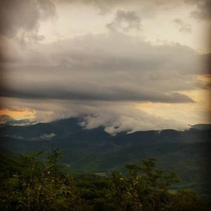 modern_day_mountain_manAnvil-head thundercloud emptying out over Flag Pond, Tennessee. Same storm system soaked me to the bone about twenty minutes later. #AppalachianTrail2016 #yearofadventure #exploring #backpacking #whiteblazers #optoutside #mountains #nature #scenery #thunderstorm #epicweather #rain