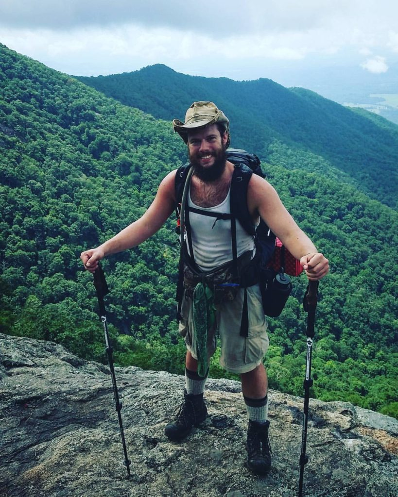 I don't always post pictures of myself, but when I do, I look like complete #hikertrash.  #AppalachianTrail2016 #yearofadventure #whiteblazers #optoutside #mountains #hiking #livefree — at Three Ridges Wilderness, George Washington National Forest.